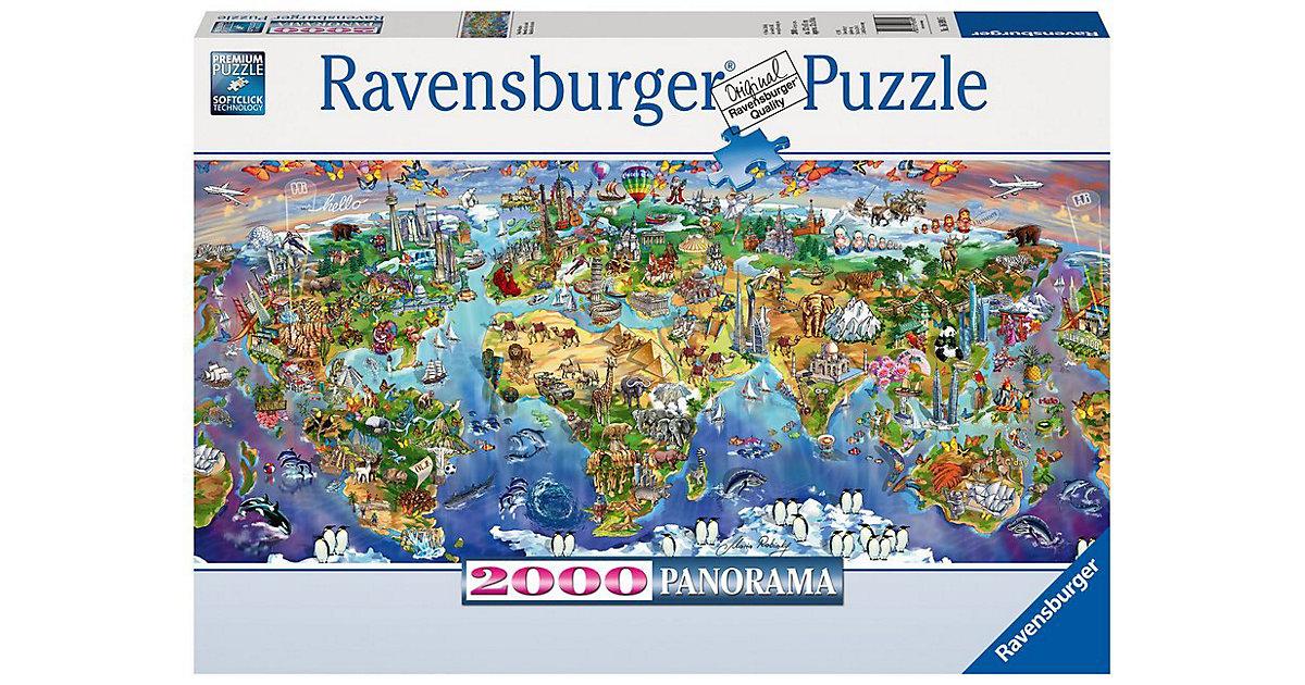 Ravensburger · Puzzle 2000 Teile, 132x61 cm, Panorama, Wunder der Welt