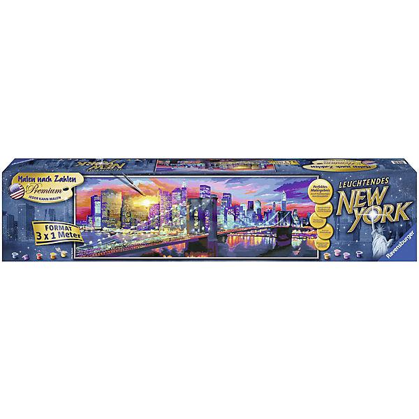 Malen Nach Zahlen Premium 300x100 Cm Mit Bilderfirnis Leuchtendes New York Ravensburger