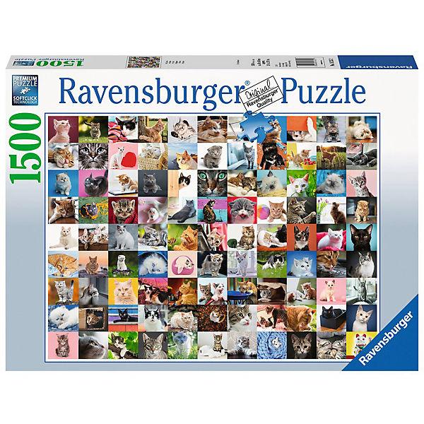 Puzzle 1500 Teile 80x60 Cm 99 Katzen Ravensburger