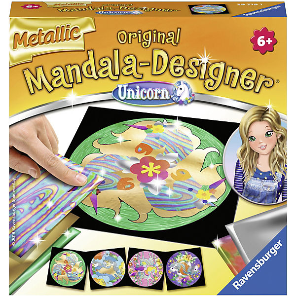 Metallic Mandala-Designer®, Unicorn