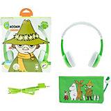 Наушники BuddyPhones Foldable Snufkin, зеленый