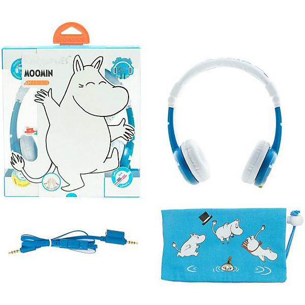 Наушники BuddyPhones Foldable Moomin, синий