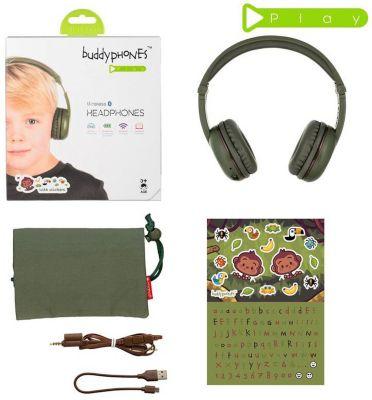 Наушники BuddyPhones Play Amazon, зеленый