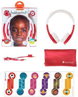 Наушники BuddyPhones Explore Foldable, красный