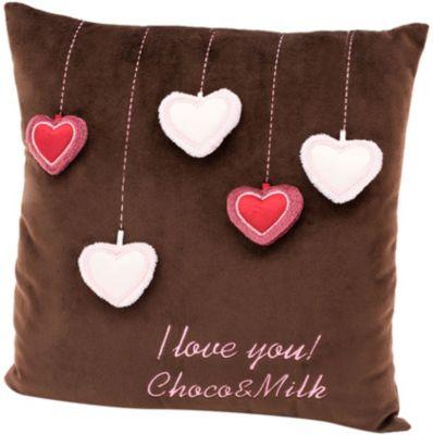 Мягкая игрушка Orange Choco&Milk Подушка Мишка Choco: Сердечки