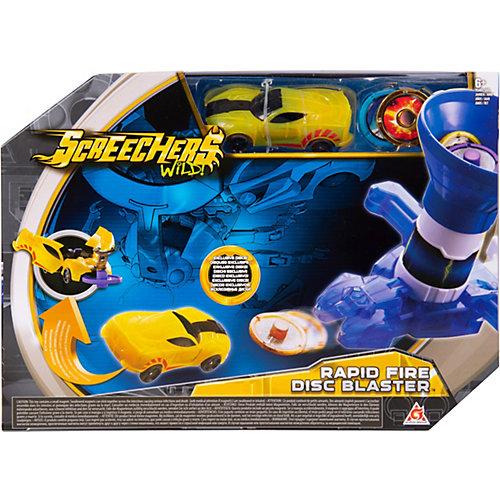 Игровой набор Дикие Скричеры Бластер для дисков синий, машинка от Screechers Wild
