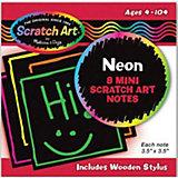 Неоновые мини-стикеры Melissa & Doug Scrach art, 8 наклеек