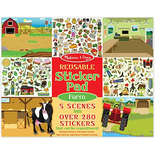 """Набор стикеров с фоном Melissa & Doug """"Ферма"""", 5 сцен, 280 наклеек от Melissa & Doug"""