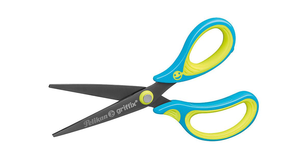 griffix Bastel- und Schulschere Neon Fresh Blue, spitz rechts hellblau