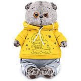 Мягкая игрушка Budi Basa Кот Басик в спортивном костюме, 19 см