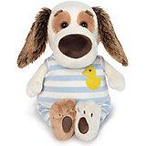 Мягкая игрушка Budi Basa Собака Бартоломей Baby в комбинезоне, 19 см