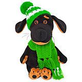 Мягкая игрушка Budi Basa Собака Ваксон Baby в шапочке и шарфе, 20 см