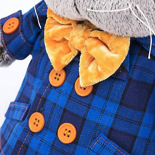 Мягкая игрушка Budi Basa Кот Басик в синей куртке и с бантом, 19 см от Budi Basa