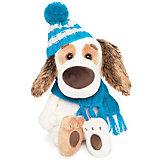 Мягкая игрушка Budi Basa Собака Бартоломей Baby в шапочке и шарфе, 19 см