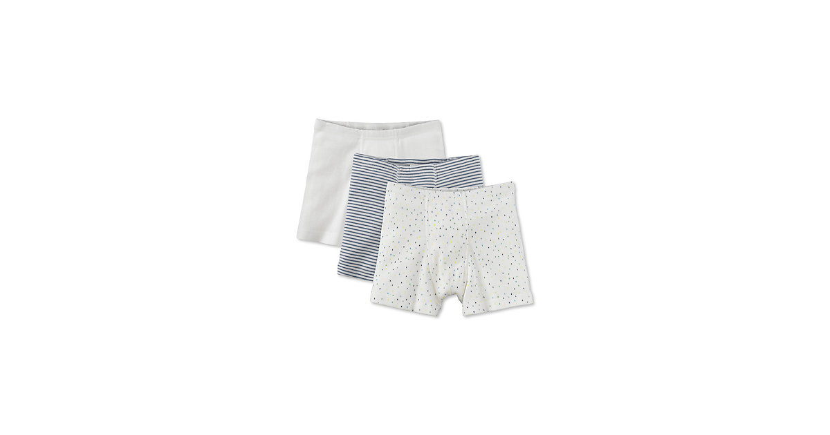 HESSNATUR · Pants im 3er-Set , Organic Cotton Gr. 110/116 Jungen Kinder