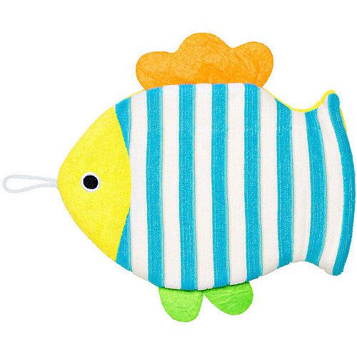 Махровая мочалка-рукавичка Roxy-Kids Рыбка. - разноцветный от Roxy-Kids