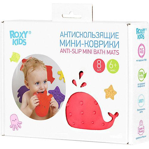 Антискользящие мини-коврики Roxy-Kids для ванны, 8 шт. - разноцветный от Roxy-Kids