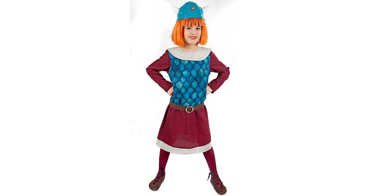 Kostüm Wickie bordeaux/blau Gr. 98/104 Jungen Kleinkinder