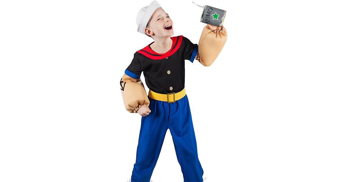 Kostüm Popeye, 6-tlg. blau Gr. 134/140 Jungen Kinder
