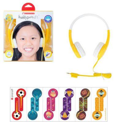 Наушники BuddyPhones Standart Yellow, желтые