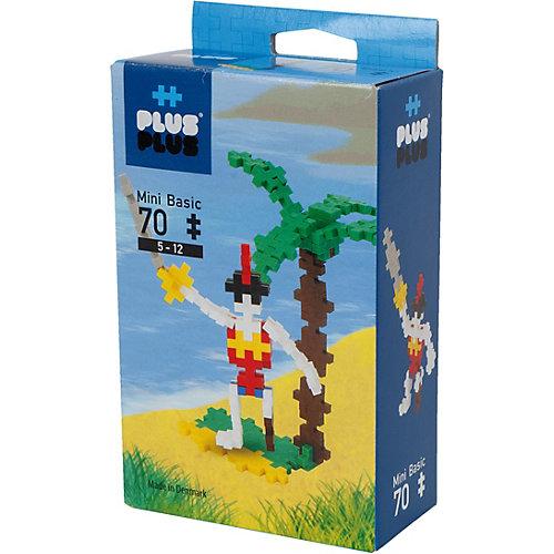 Конструктор Plus Plus разноцветный для создания 3D моделей «Пират», 70 деталей от Plus Plus