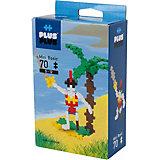 Конструктор Plus Plus разноцветный для создания 3D моделей «Пират», 70 деталей