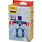 Конструктор Plus Plus разноцветный для создания 3D моделей «Робот», 70 деталей