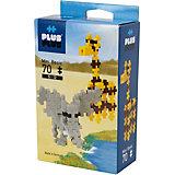 Конструктор Plus Plus разноцветный для создания 3D моделей «Сафари», 70 деталей
