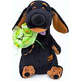 Мягкая игрушка Budi Basa Собака Ваксон с букетом, 25 см