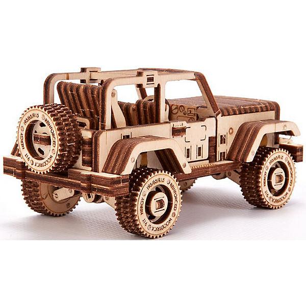 Механический 3D-пазл из дерева Wood Trick Набор машинок
