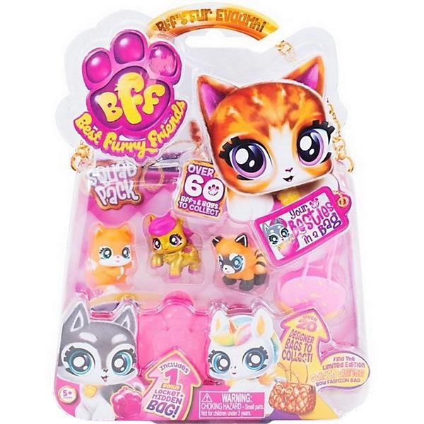 Коллекционные фигурки Best Furry Friends с розовой в желтую крапинку сумкой-переноской