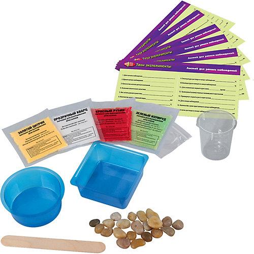 """Набор для опытов Твои эксперименты """"Вырасти 4 разноцветных кристалла"""" от Твои эксперименты"""