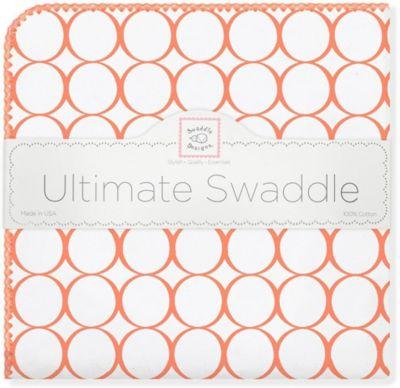 Фланелевая пеленка SwaddleDesigns Orange Mod, 110х110 см