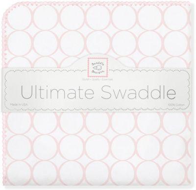 Фланелевая пеленка SwaddleDesigns Pink Mod, 110х110 см