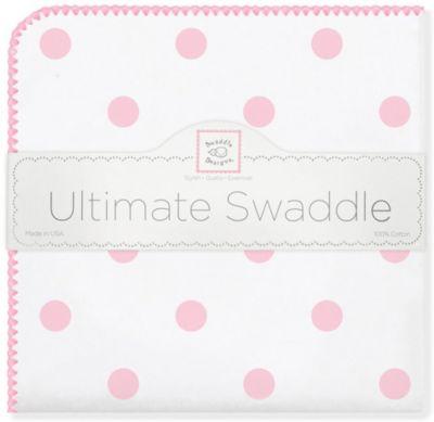 Фланелевая пеленка SwaddleDesigns Big Dots Pink, 110х110 см