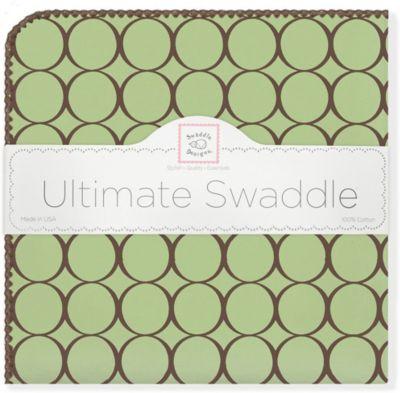 Фланелевая пеленка SwaddleDesigns Lime, 110х110 см