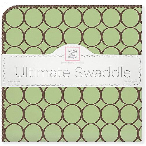 Фланелевая пеленка SwaddleDesigns Lime, 110х110 см от SwaddleDesigns