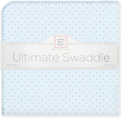 Фланелевая пеленка SwaddleDesigns Blue Dot, 110х110 см