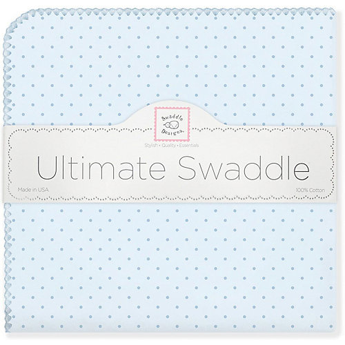 Фланелевая пеленка SwaddleDesigns Blue Dot, 110х110 см от SwaddleDesigns