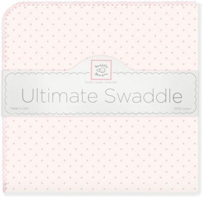 Фланелевая пеленка SwaddleDesigns Pink Dot, 110х110 см