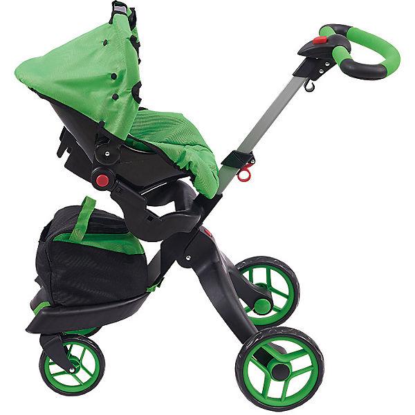 Коляска для кукол Buggy Boom Aurora, ярко-зеленая