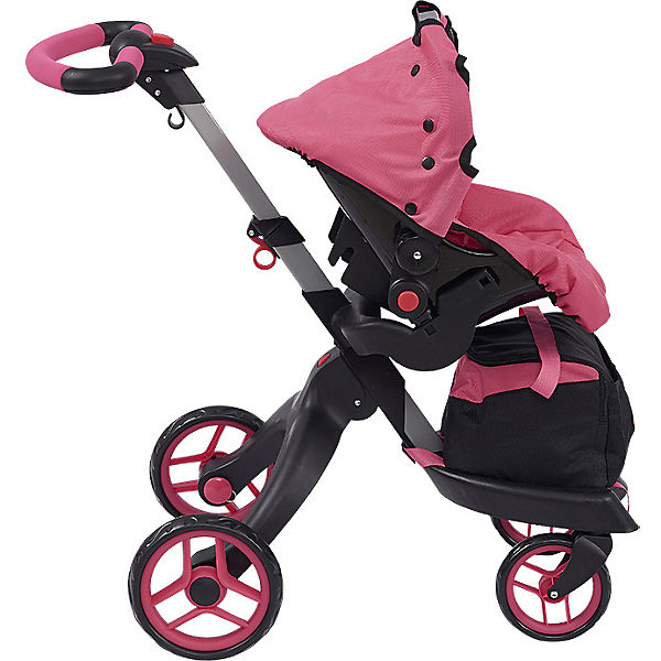 Коляска для кукол Buggy Boom Aurora, розовая