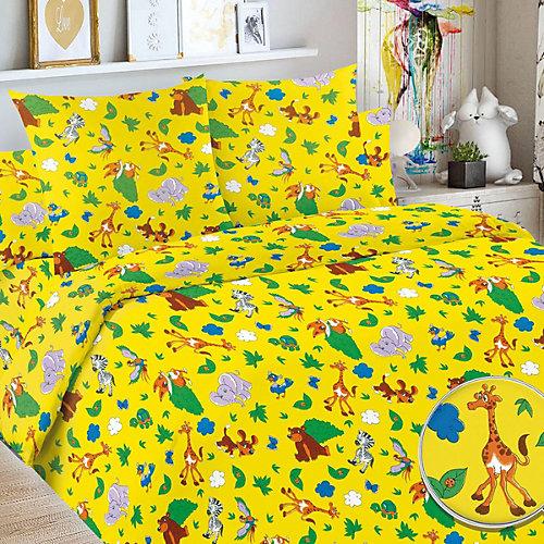 Детское постельное белье 1,5 сп Letto, Сафари - желтый от Letto