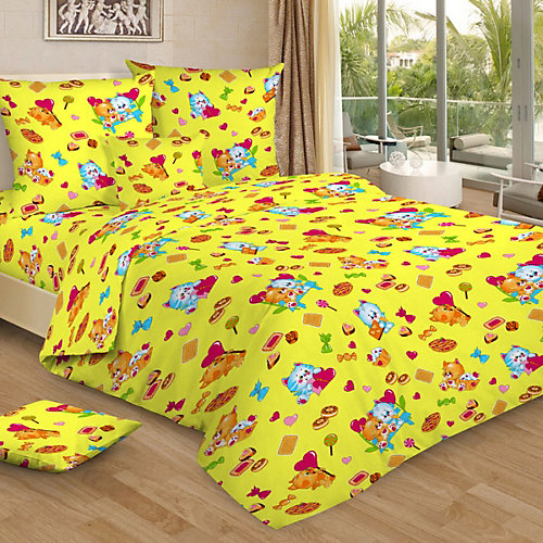 Детское постельное белье 3 предмета Letto, BG-93 - желтый от Letto