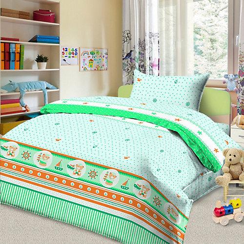 Детское постельное белье 3 предмета Letto, BG-103 - зеленый от Letto