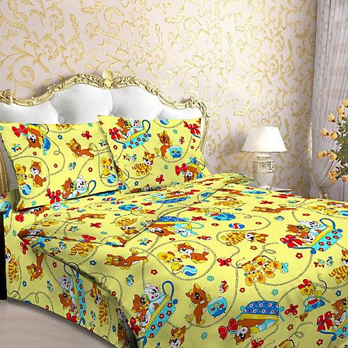 Детское постельное белье 1,5 сп Letto, Мяу, желтый от Letto