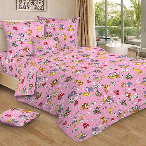 Детское постельное белье 1,5 сп Letto, Веселые зайчата, розовый от Letto