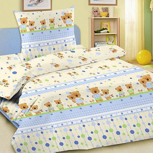 Детское постельное белье 3 предмета Letto, BG-15 - голубой от Letto