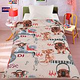 Покрывало-одеяло Letto, Собака диджей, 140х200 см