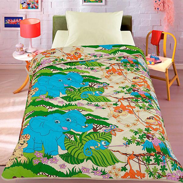 Покрывало-одеяло Letto Джунгли 140х200